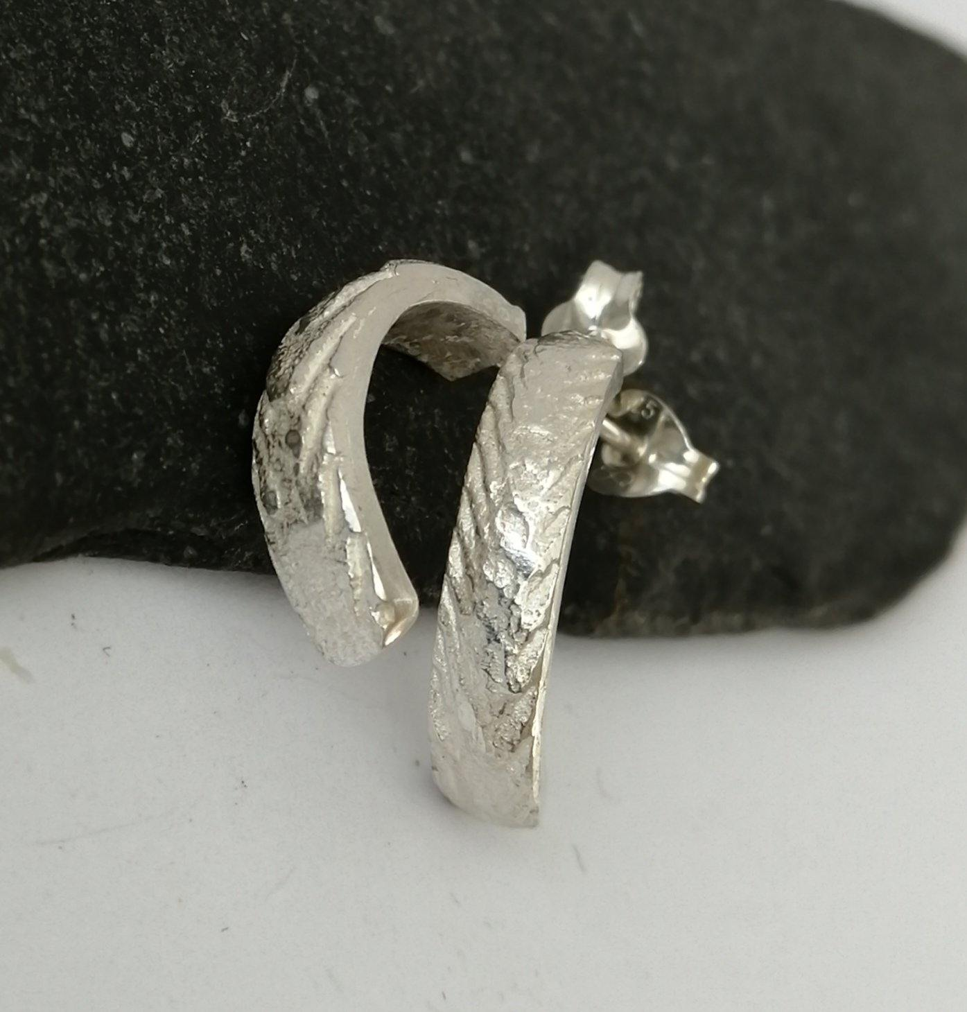 Cuttlefish Sterling Silver Earrings - Glitter and Gem Jewellery