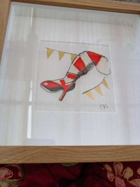 Duke of Yorks Komedia Brighton Original water colour, wire sculpture and gold leaf framed art - Glitter and Gem Jewellery