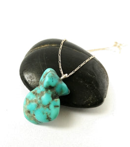 Turquoise Nugget Sterling Silver Necklace - Glitter and Gem Jewellery