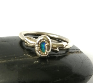Opal Silver Ring - Glitter and Gem Jewellery