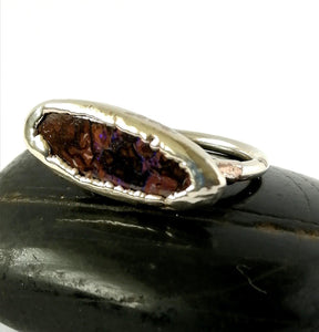 Boulder Opal Silver Ring - Glitter and Gem Jewellery
