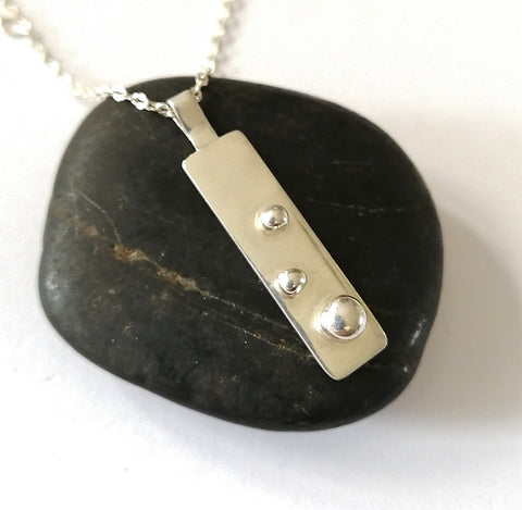 Sterling Silver Pendant Necklace - Glitter and Gem Jewellery
