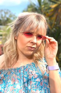 Small Oval Pink Sunglasses - Glitter and Gem Jewellery