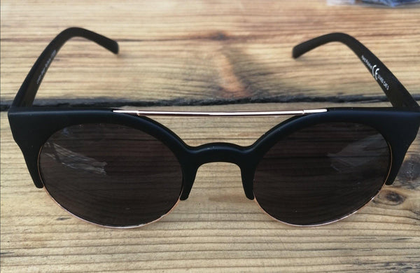 Black and Gold Dark Lense Sunglasses - Glitter and Gem Jewellery