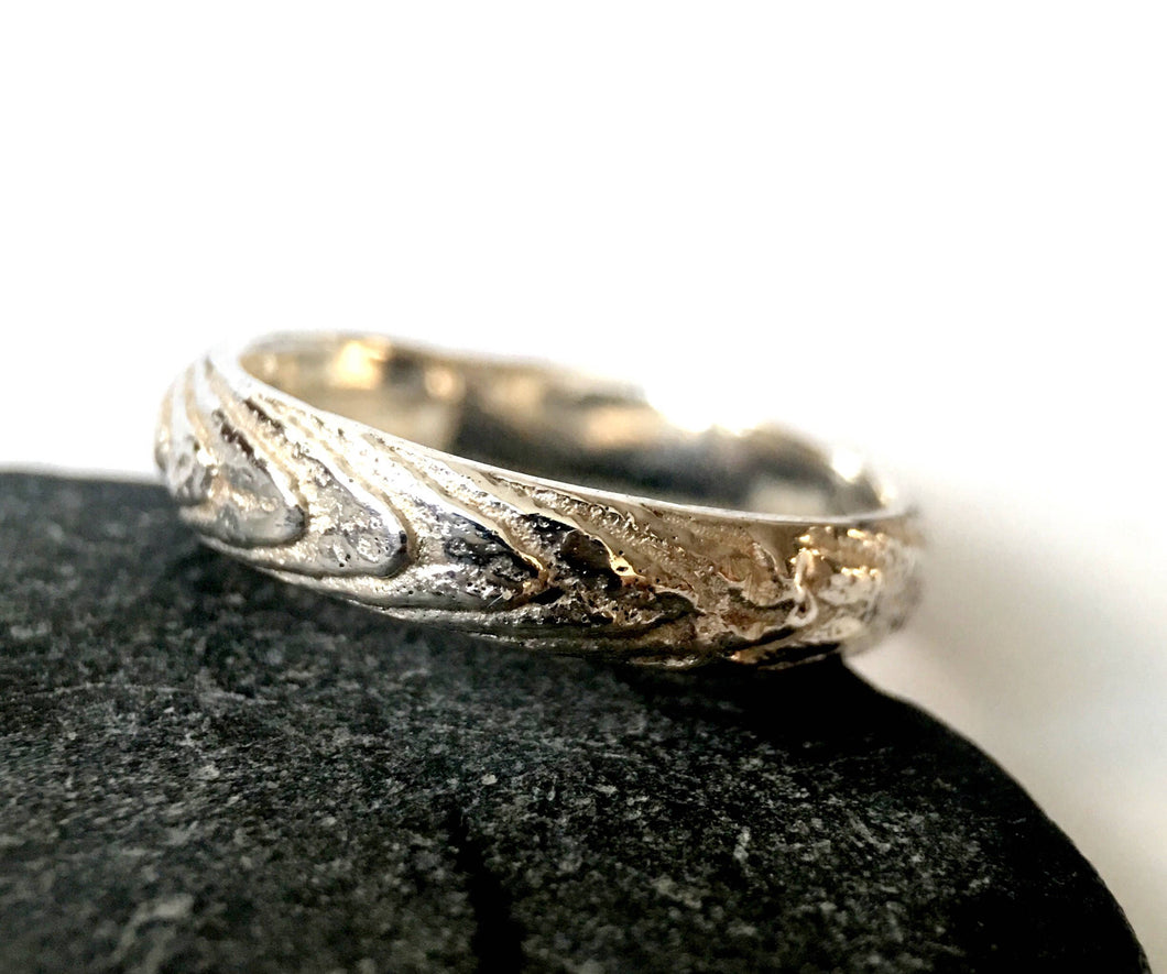 Cuttlefish Cast Silver Ring Band