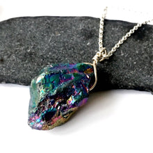 Titanium Rock Crystal Quartz Sterling Silver Necklace - Glitter and Gem Jewellery