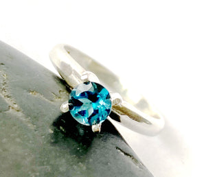 Topaz Sterling Silver Ring - Glitter and Gem Jewellery