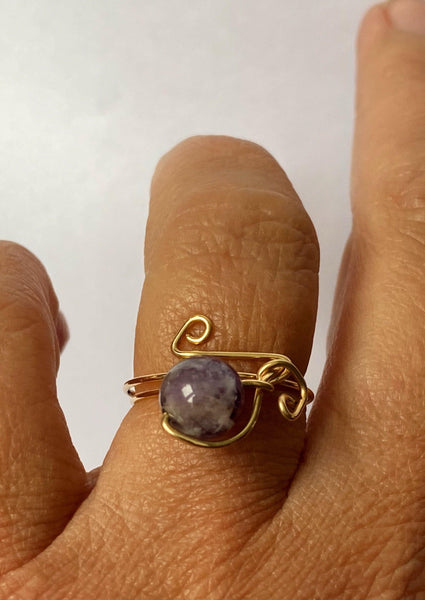 14 ct Gold Filled Amethyst Ring - Glitter and Gem Jewellery