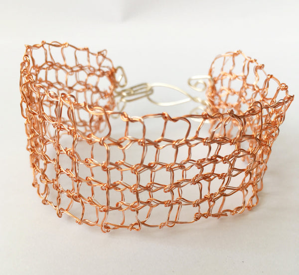 Gold & Silver Hand Woven Bracelet - Glitter and Gem Jewellery