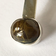 Brown Tourmaline Sterling Silver Pendant Necklace - Glitter and Gem Jewellery