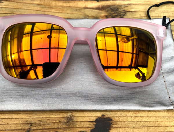 Dusty Pink Retro Sunglasses - Glitter and Gem Jewellery