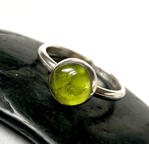 Peridot Sterling Silver Ring