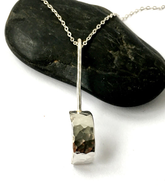 Unique Design Sterling Silver Pendant Necklace - Glitter and Gem Jewellery