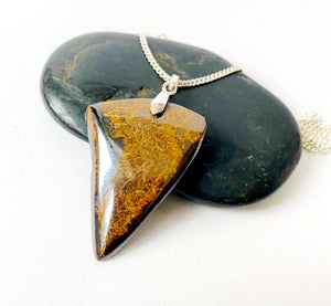 Boulder Opal Sterling Silver Pendant Necklace