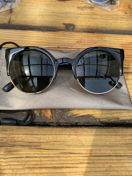 Tortoise Shell Gold Bar Sunglasses - Glitter and Gem Jewellery