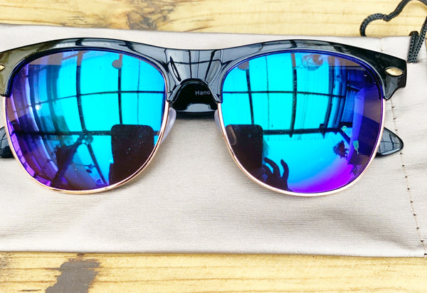 Tortoise Shell Golden Refective Sunglasses - Glitter and Gem Jewellery