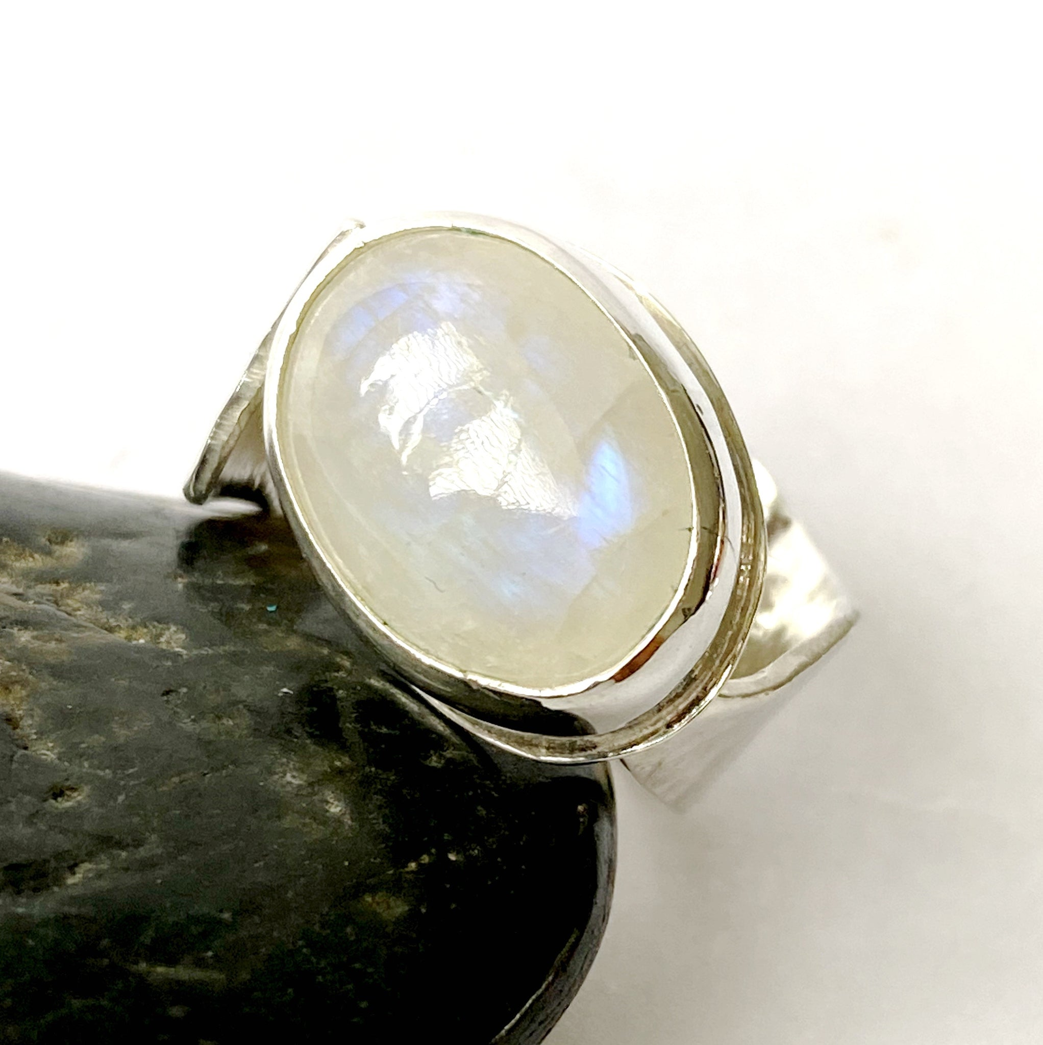 Moonstone Sterling Silver Ring - Glitter and Gem Jewellery