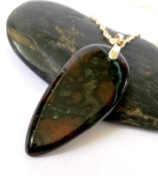 Port Soy Marble Sterling Silver Pendant Necklace - Glitter and Gem Jewellery