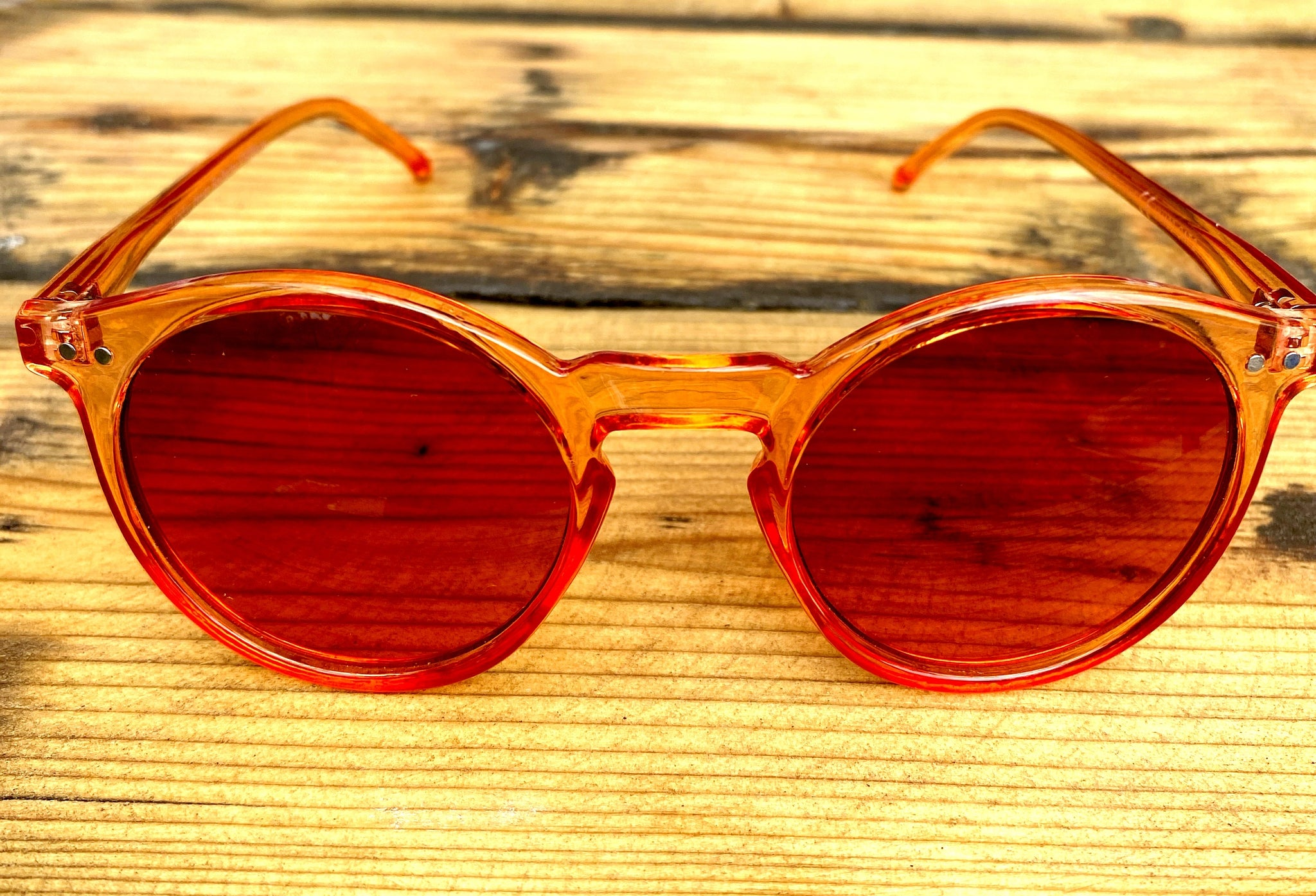 Orange Sunglasses - Glitter and Gem Jewellery