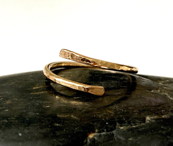 14ct Gold Filled Hammered Wire Ring