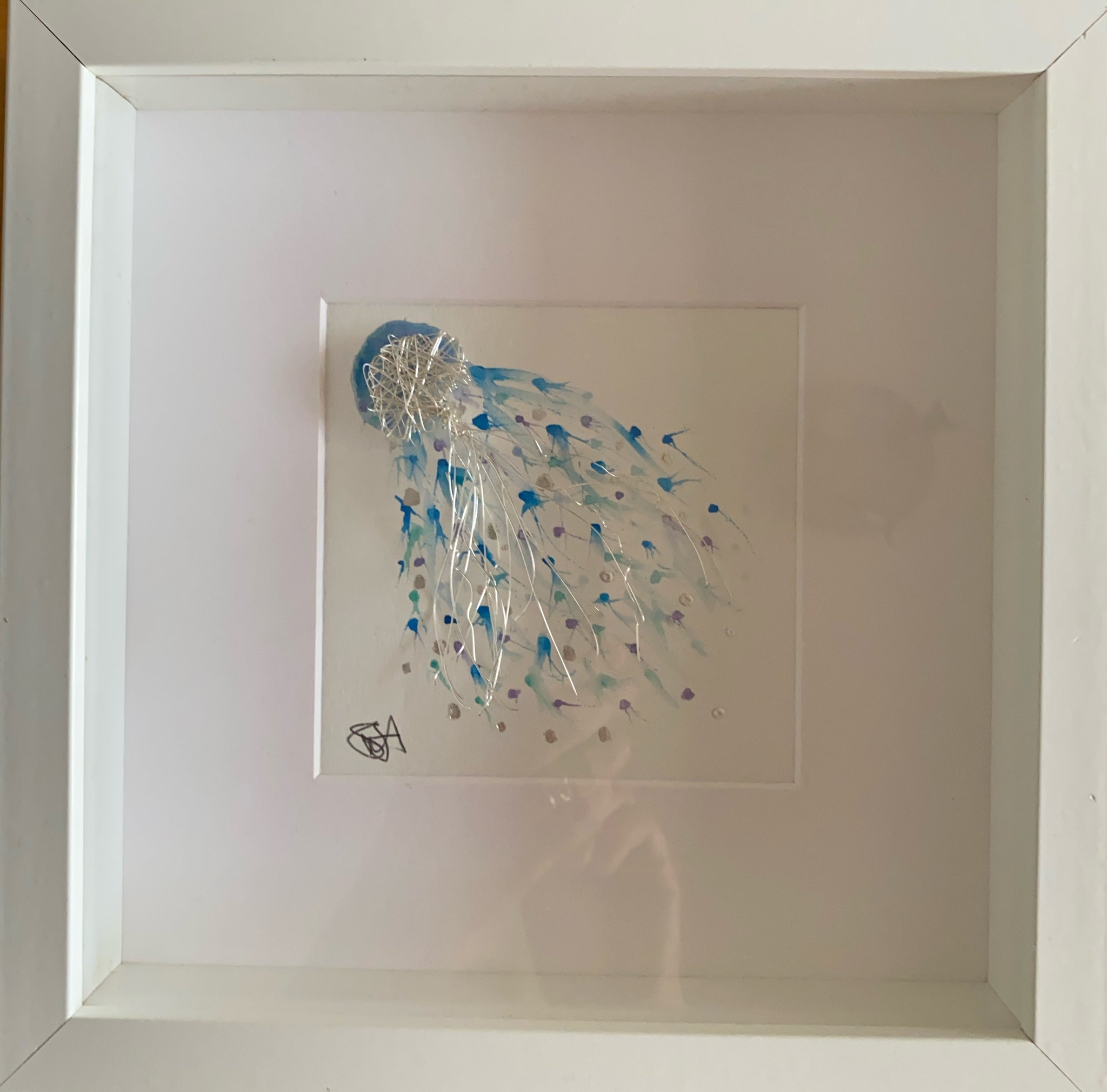 Jellyfish Wire & Watercolour Art