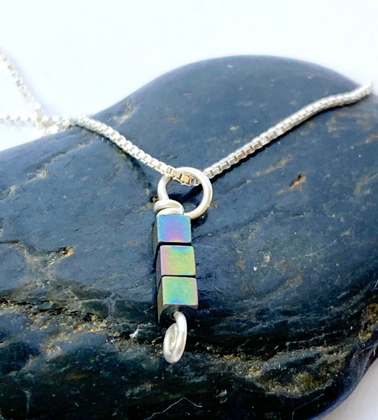 Hematite Silver Necklace - Glitter and Gem Jewellery