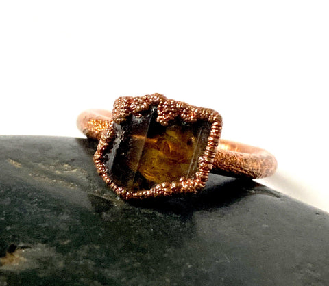 Epidolite Copper Formed Ring
