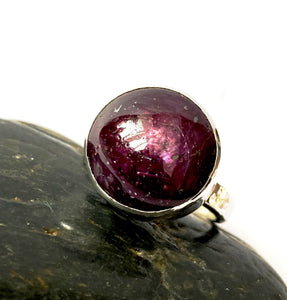 Ruby Sterling Silver Ring - Glitter and Gem Jewellery