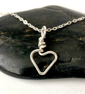 Small Heart Sterling Silver Pendant Necklace