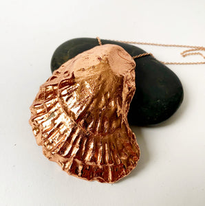 Oyster Shell Copper Formed Pendant Necklace