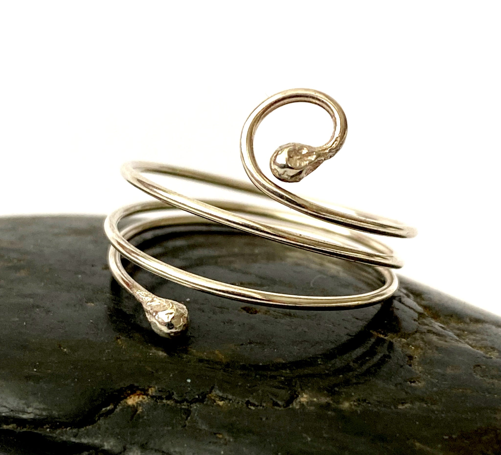 Sterling Silver Wire Ring - Glitter and Gem Jewellery