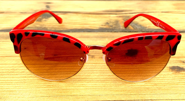 Red Leopard Print Sunglasses - Glitter and Gem Jewellery