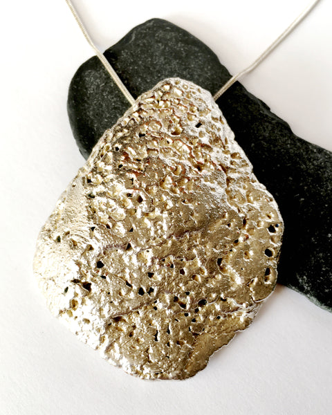 Oyster Shell Silver & Copper Statement Necklace - Glitter and Gem Jewellery