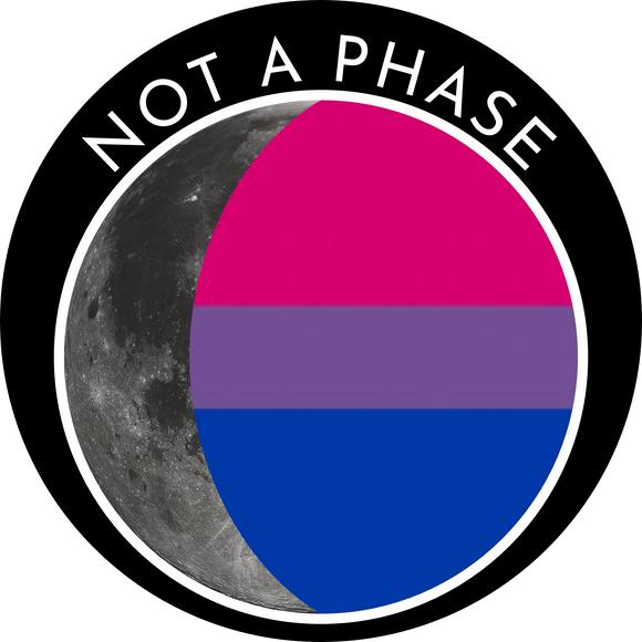Not a Phase - Bisexual Pride Flag