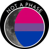 Not a Phase Sticker - Bisexual Pride