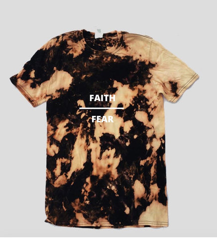 FAITH OVER FEAR DISTRESSED - TSHIRT