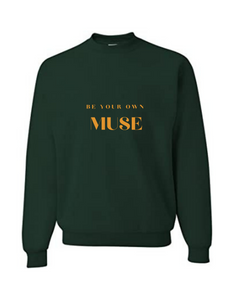 MUSE CREWNECK - FOREST GREEN