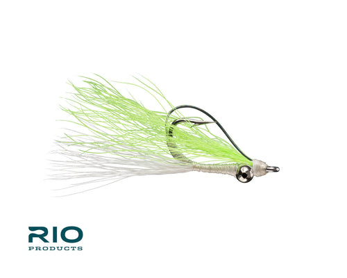 RIO Flies - Skinny Water Clouser Minnow Weedless - White & Chartreuse