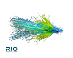 RIO Flies - RIO's Checkmate #1 - Blue & Chartreuse