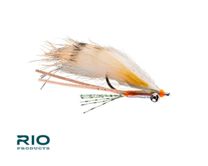 "RIO Flies - ""Bunny Foo Foo"" Bonefish Fly - Orange/Peach #6"