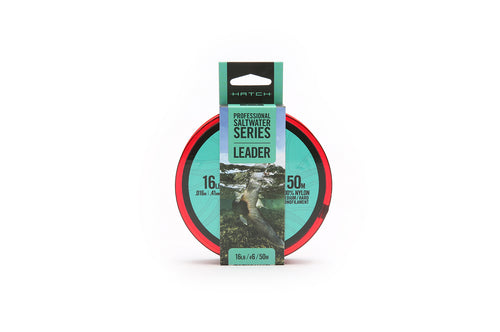 Hatch Professional Saltwater Med/Hard Monofilament Leader Line from 16-100lb.