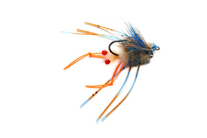 Vlahos' Combo Crab Blue/Orange #4 - Orvis Signature Fly by Fulling Mill