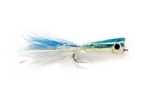 Mylar Popper Blue/White #2/0 - Fulling Mill Flies