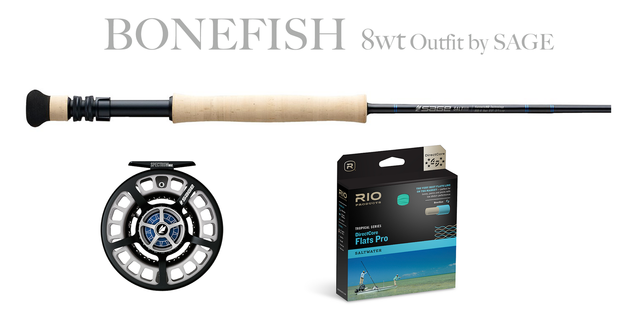 Sage BONEFISH Combo - SALT HD Fly Rod 8wt + Spectrum MAX Reel (7/8)