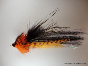 El Chupacabra Fly - Orange Black - Dan Johnson Custom Saltwater Flies