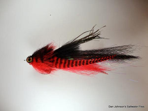 El Chupacabra Fly - Red Black - Dan Johnson Custom Saltwater Flies