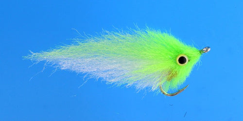 EP Flies - EP Gulf Coast SP Chartreuse / White #2/0