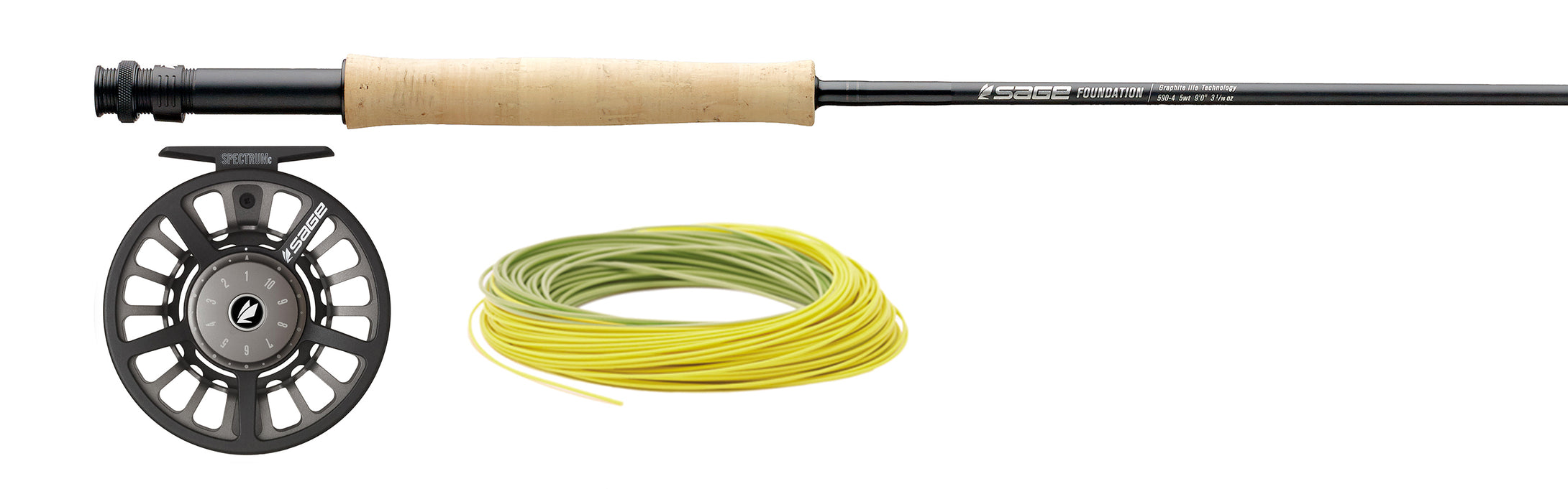 Sage Foundation Outfit - Fly Rod and Reel Outfit Combo with Fly Line! SAVE 20%