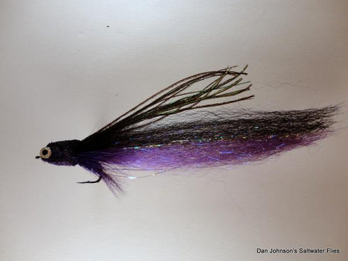 Flat Nose Andino Deceiver - Purple / Black Synthetic #4/0 - Dan Johnson Custom Saltwater Flies