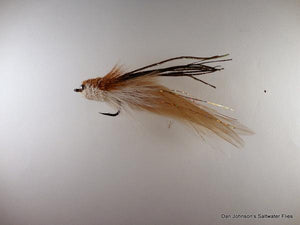 Baby Andino Deceiver - Tan / White Hackle #2/0 - Dan Johnson Custom Saltwater Flies